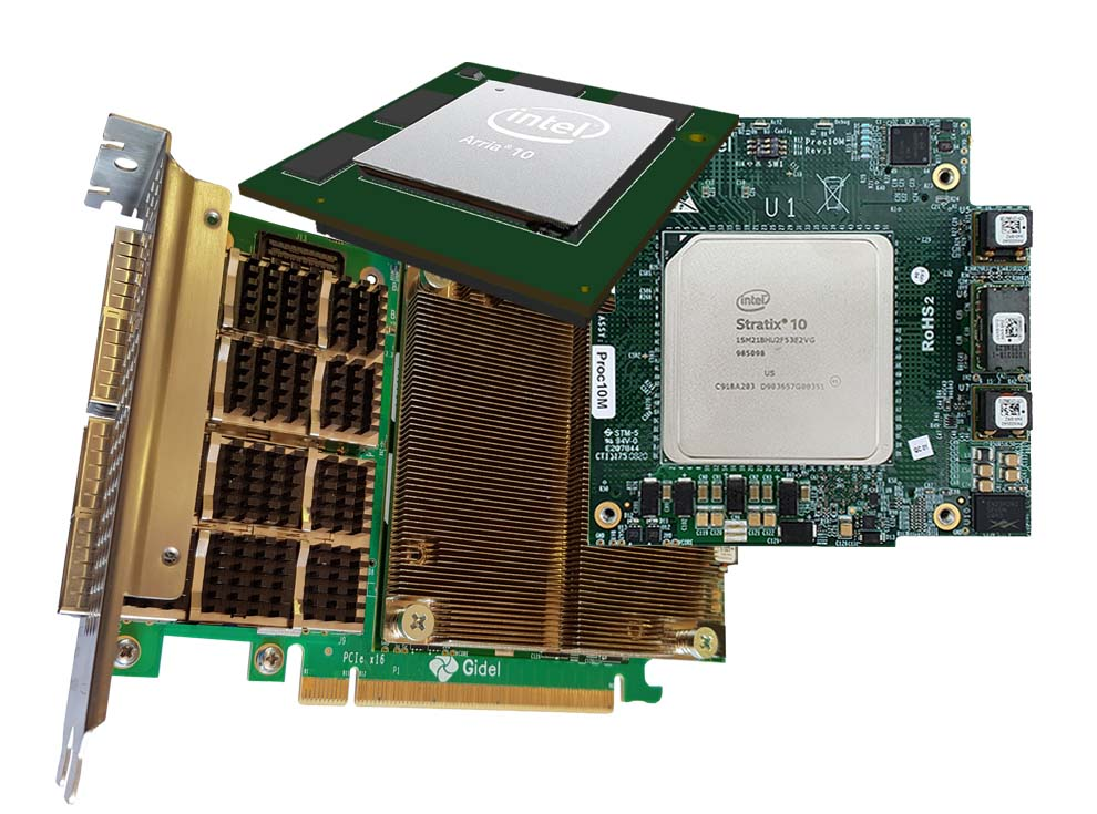 Gidel high performance modules and PCIe carrier board